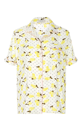 Medium piamita print jill silk lemon print pajama top