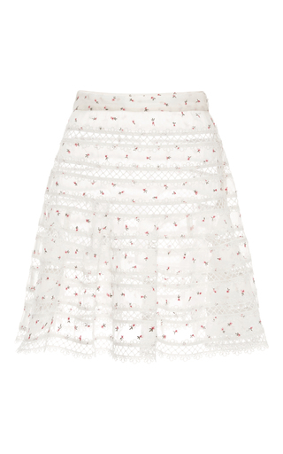 Medium zimmermann white mischief rosebud printed mini skirt