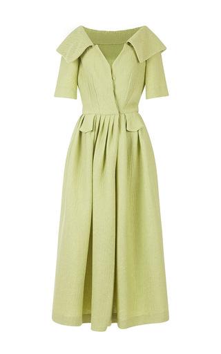Medium emilia wickstead lime green gemma dress