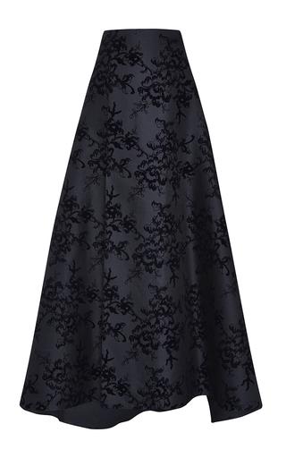 Medium carolina herrera navy floral threadwork skirt