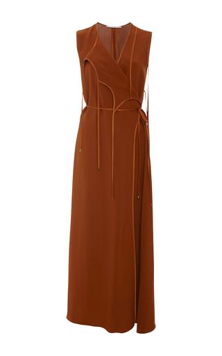 Medium rosetta getty red terra tie front wrap dress