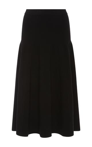 Medium rosetta getty black tiered skirt