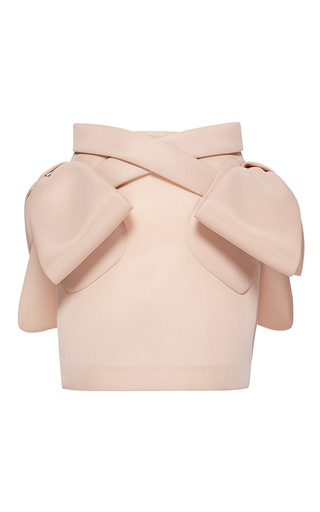 Medium simone rocha pink bow pocket sponge mini skirt