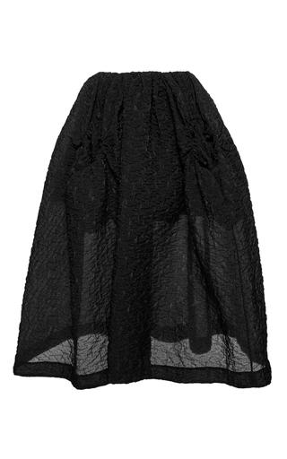 Medium simone rocha black full circle pocket cloque skirt
