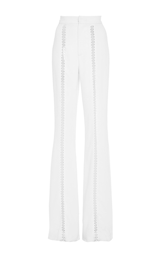 Medium jonathan simkhai white crepe trim trouser