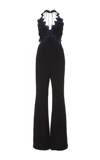 Medium jonathan simkhai navy scallop crepe jumpsuit