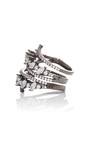 Jagged Edge Spiral Ring  by FALLON Now Available on Moda Operandi