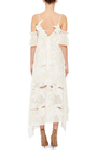 Floral Open Shouldered Dress by SELF PORTRAIT Now Available on Moda Operandi
