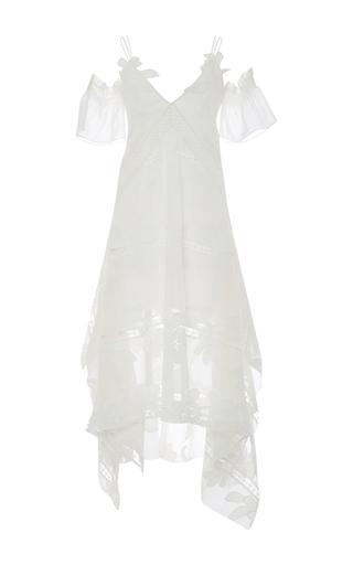 Medium self portrait white floral open shouldered dress