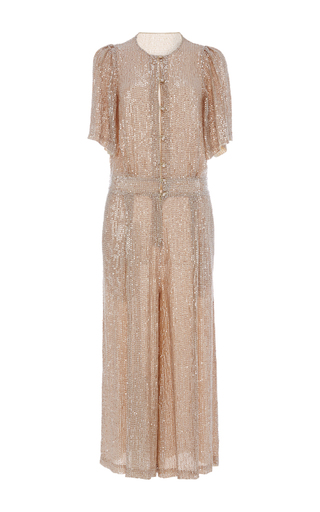 Cropped Olina Jumpsuit by TEMPERLEY LONDON Now Available on Moda Operandi