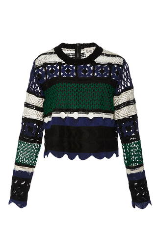 Medium sea multi multi lace pullover