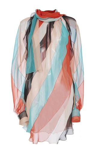 Medium blumarine nude colorblock scarf neck blouse