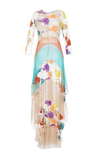 Medium blumarine nude colorblock tulle dress