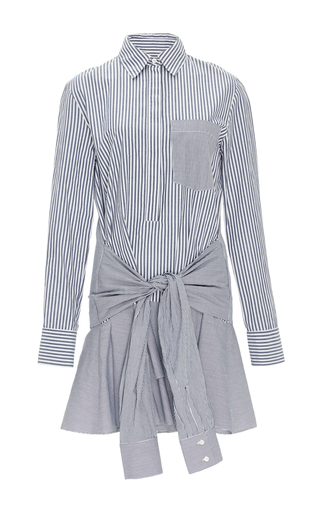 Cotton Striped Tie Waist Shirtdress  by DEREK LAM 10 CROSBY Now Available on Moda Operandi