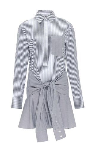 Medium derek lam 10 crosby stripe cotton striped tie waist shirtdress