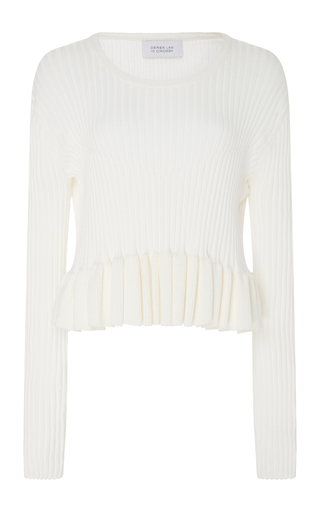 Ribbed Sweater With Peplum Hem by DEREK LAM 10 CROSBY Now Available on Moda Operandi
