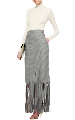 Oatmeal Ribbed Micro Modal Mock Neck Top by ATM Now Available on Moda Operandi