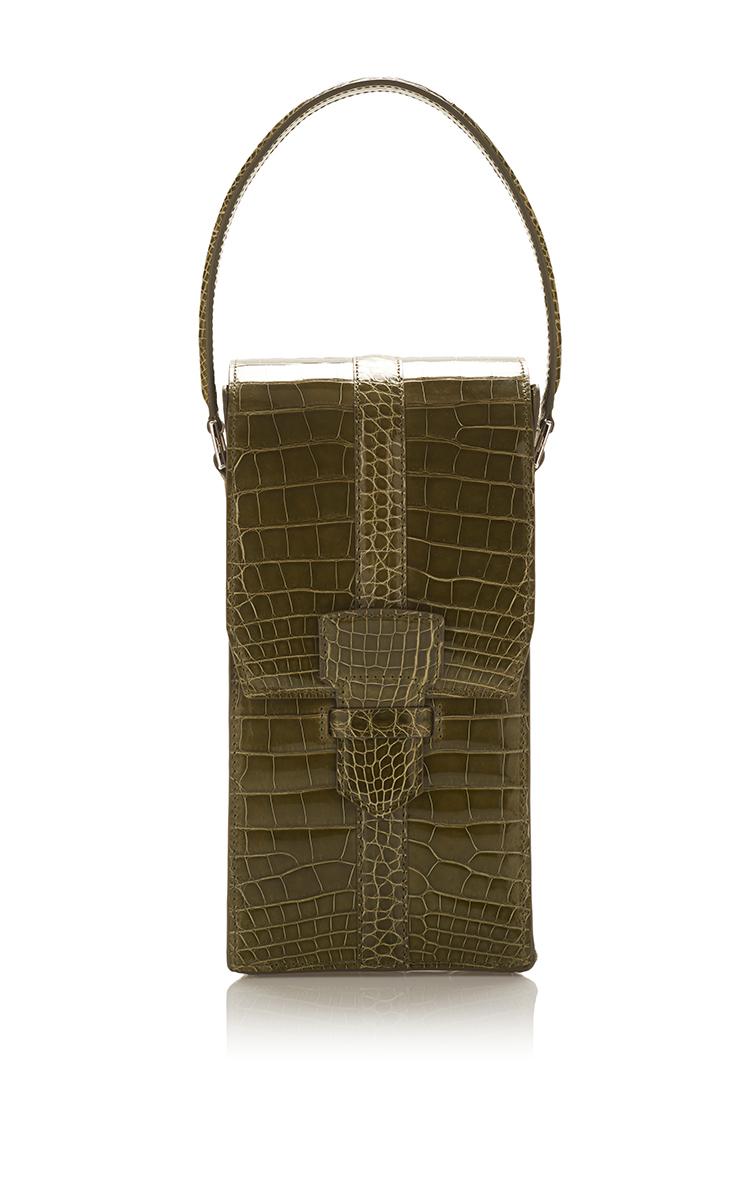 800b6d7f7c Salvatore FerragamoNew Avocado Green Crocodile Balva Shoulder bag. CLOSE.  Loading