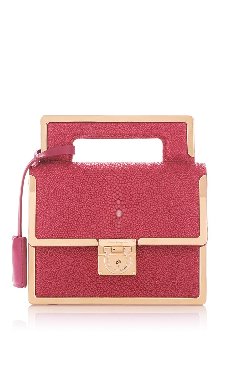 5584044e6f ... denmark mini anenome pink stingray aileen belt bag by salvatore  ferragamo 8a40d 8df2a