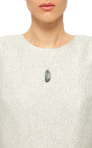 One Of A Kind Moss Stone Necklace by CVC STONES Now Available on Moda Operandi