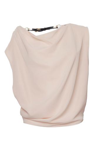 Medium bouchra jarrar pink japanese silk open back cowl blouse