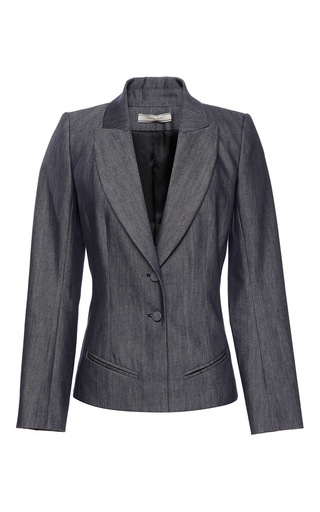 Medium bouchra jarrar navy denim blazer