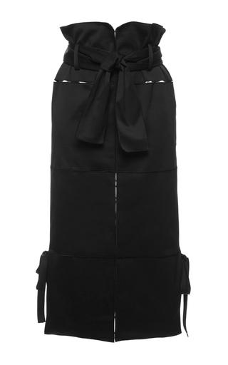 Medium salvatore ferragamo black black cotton gabardine pencil skirt