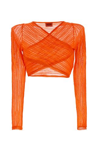 Medium missoni orange cropped ribbed blouse