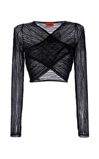 Medium missoni black black cropped ribbed blouse