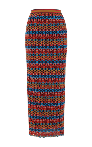Medium saloni multi nat pencil skirt