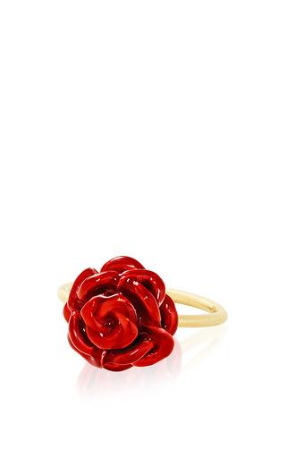 Medium alison lou red rose stack ring  2