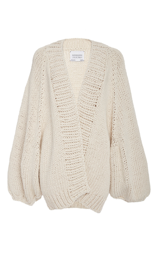 Medium i love mr mittens nude balloon sleeve cardigan