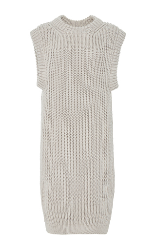 Medium i love mr mittens light grey sleeveless knit rib dress