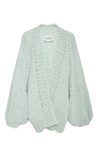 Medium i love mr mittens green balloon sleeve cardigan  2