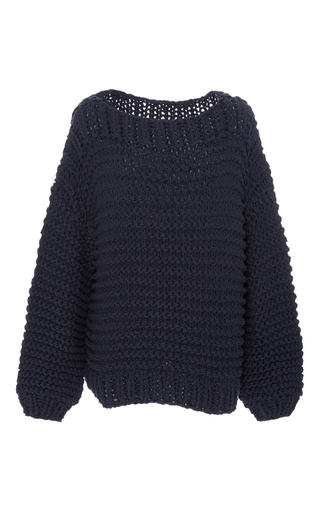 Medium i love mr mittens navy boatneck collar sweater