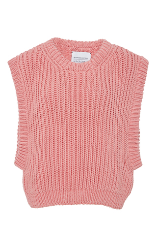 Medium i love mr mittens pink sleeveless knit top