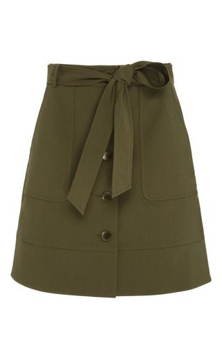 Medium tibi green city stretch cargo skirt
