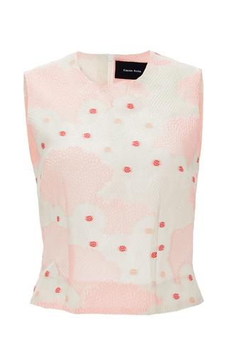 Medium simone rocha pink silk cotton blend kimono top