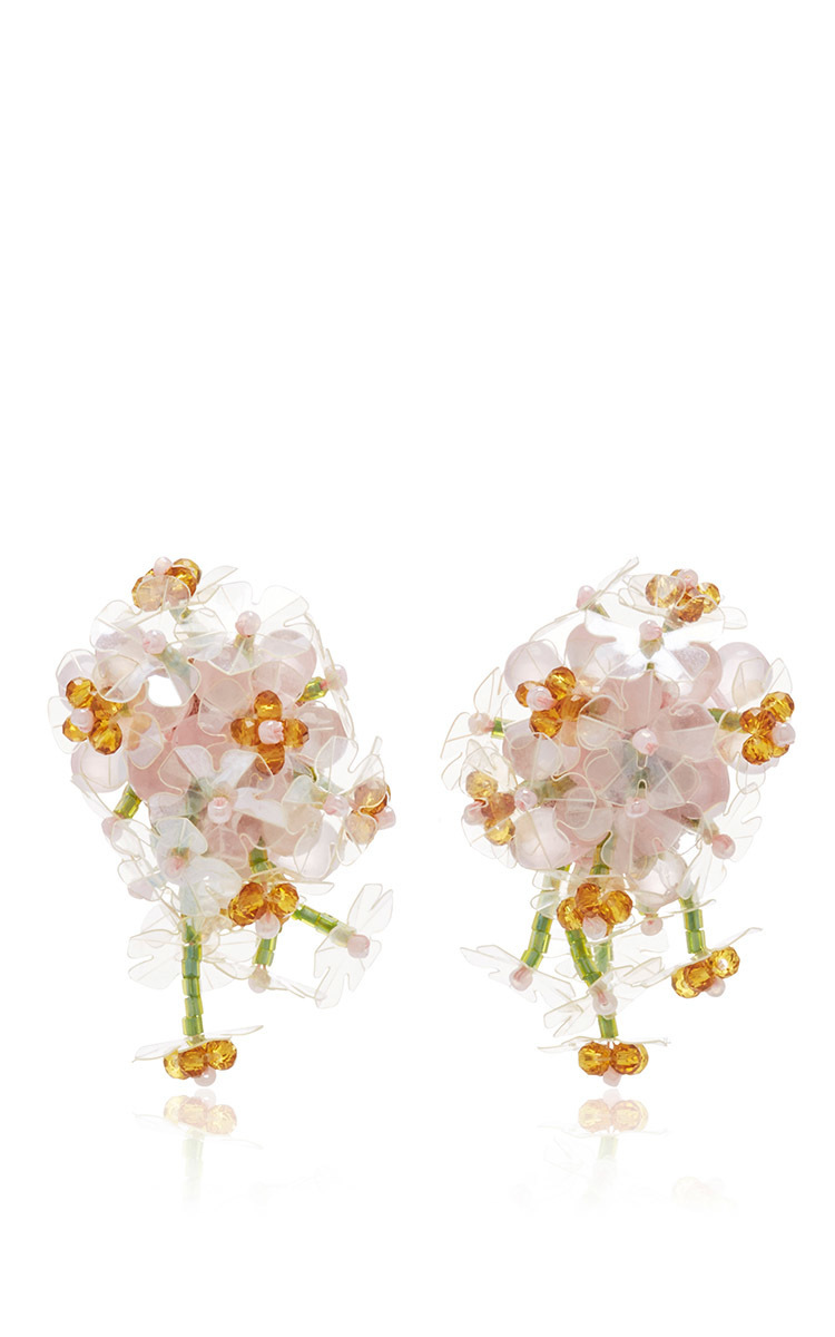 drop flower clip-on earrings Simone Rocha KjGY2