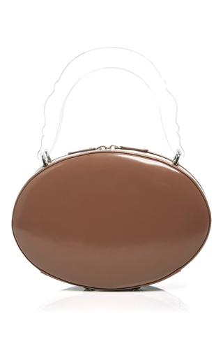 Medium simone rocha brown brown patent leather oval handbag