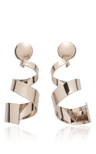 Medium marni metallic palladium earrings