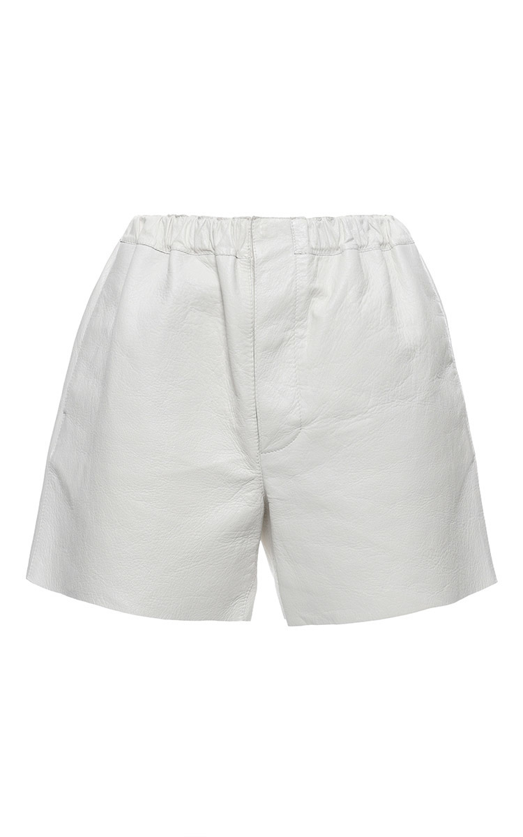Stone White Leather Shorts by Marni | Moda Operandi
