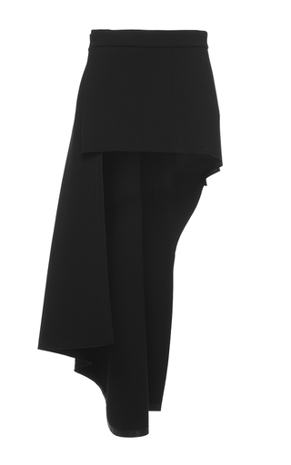 Medium marni black asymmetric high low mini skirt