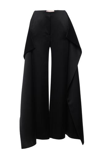 Medium marni black black draped detail trouser