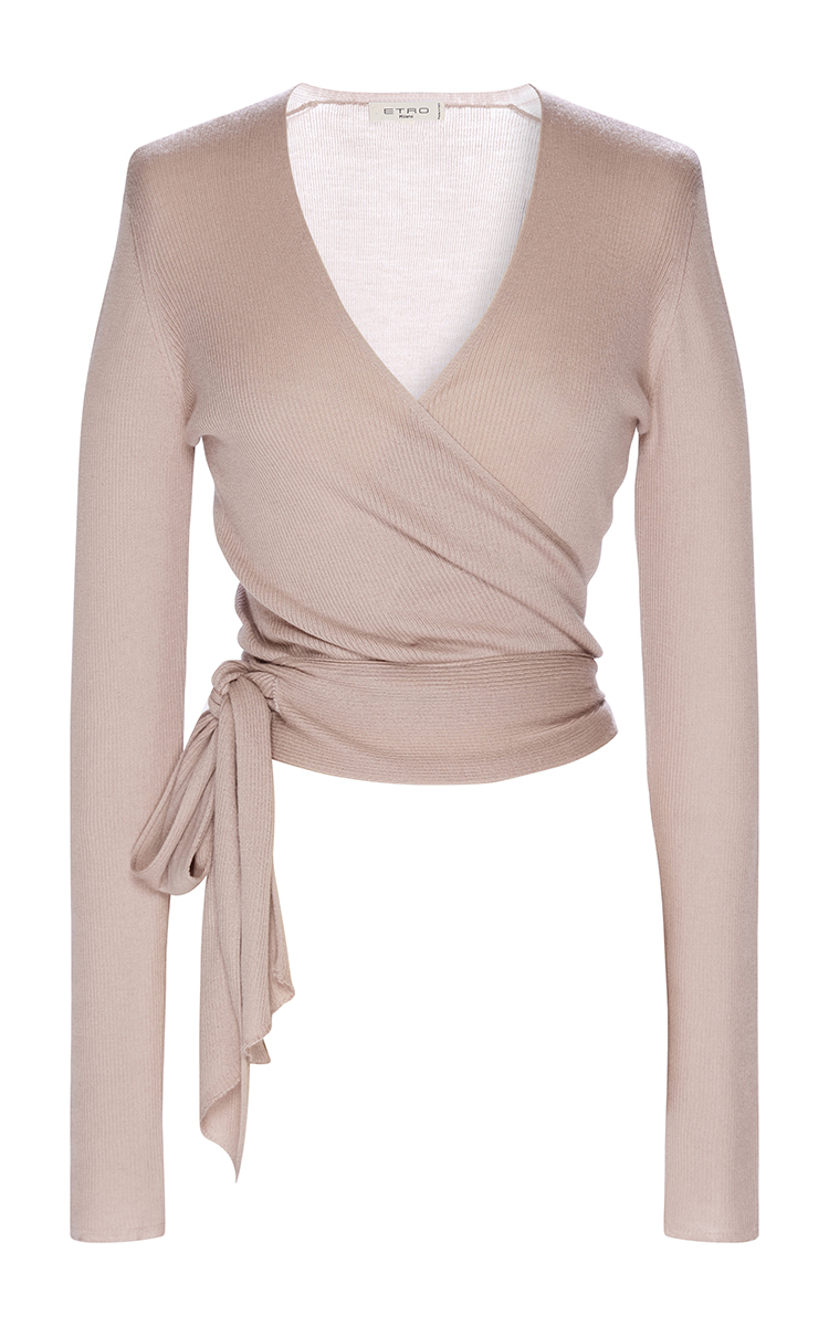 af4ca1bf36248 Long Sleeve Ballet Cardigan by Etro