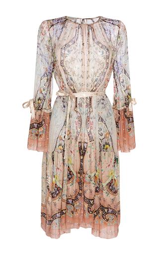 Medium etro print peach paisley silk tunic dress