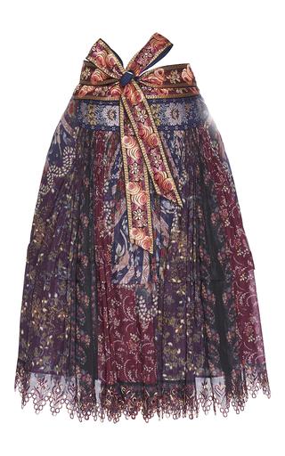 Medium etro navy navy berry floral tiered skirt