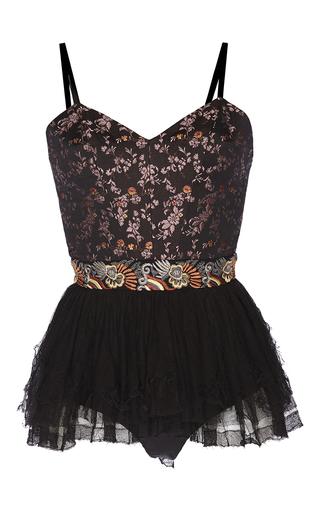 Medium etro black black jacquard ballerina top