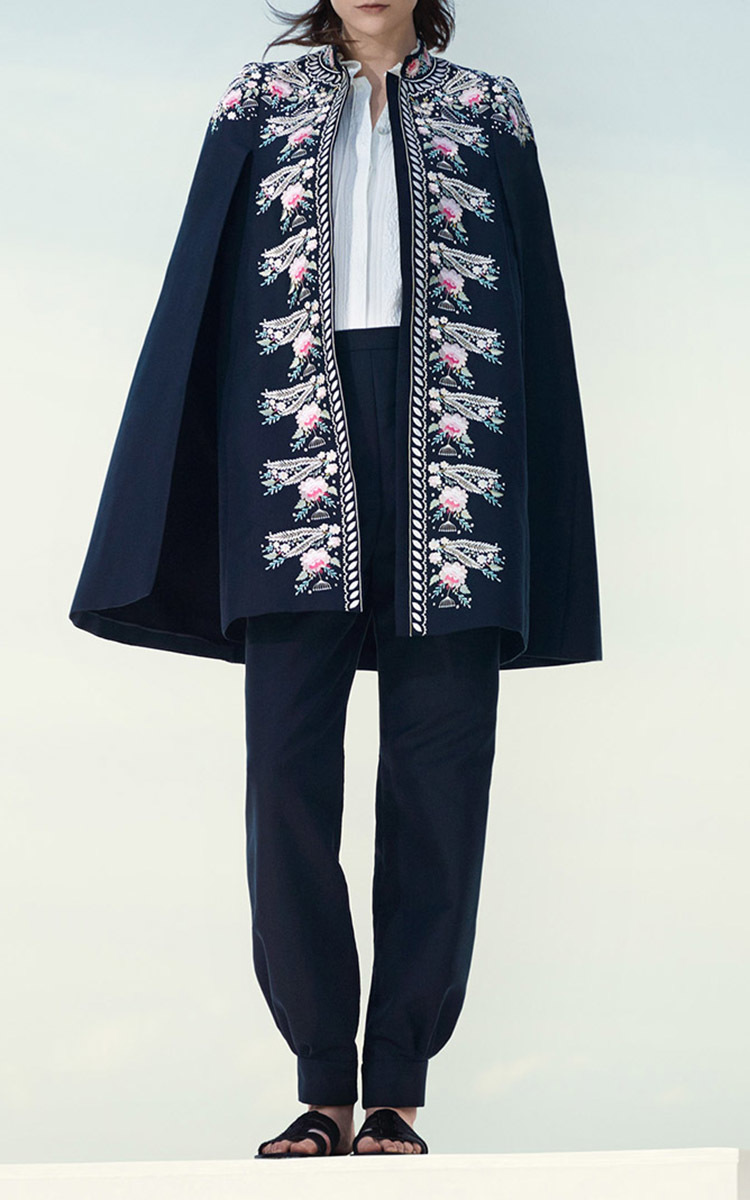 Darcy Pompadour Embroidered Cape By Vilshenko  Moda Operandi