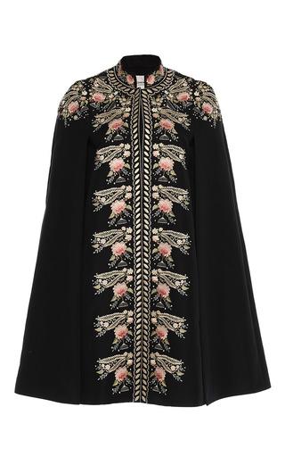 Medium vilshenko black darcy pompadour embroidered cape